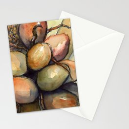 Tropical Palm Tree Coconuts Stationery Cards