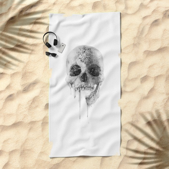 Crystal Skull Beach Towel