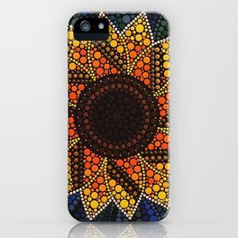 Dotty Sunflower iPhone Case