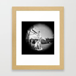 It Follows You...Fisheye Framed Art Print