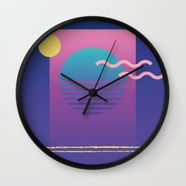 Memphis Pattern 36 / 80s - 90s Retro Wall Clock