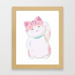 neko chan Framed Art Print
