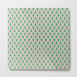 Green Flag Pennant Metal Print