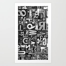 Metal Madness - Typography Photography™ Art Print