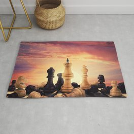 the rise of a chess player Rug