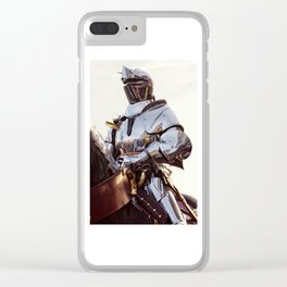 Knight In Shining Armour Clear iPhone Case