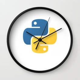 Python Official Logo Scripting Programming Language Wall Clock
