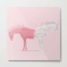 Double-natured unicorn Metal Print