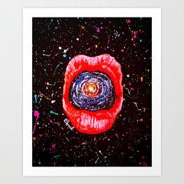 Cosmic Lips 2 Art Print
