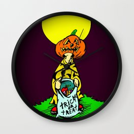 Tricky  |  Trick Or Treat  |  Halloween Wall Clock
