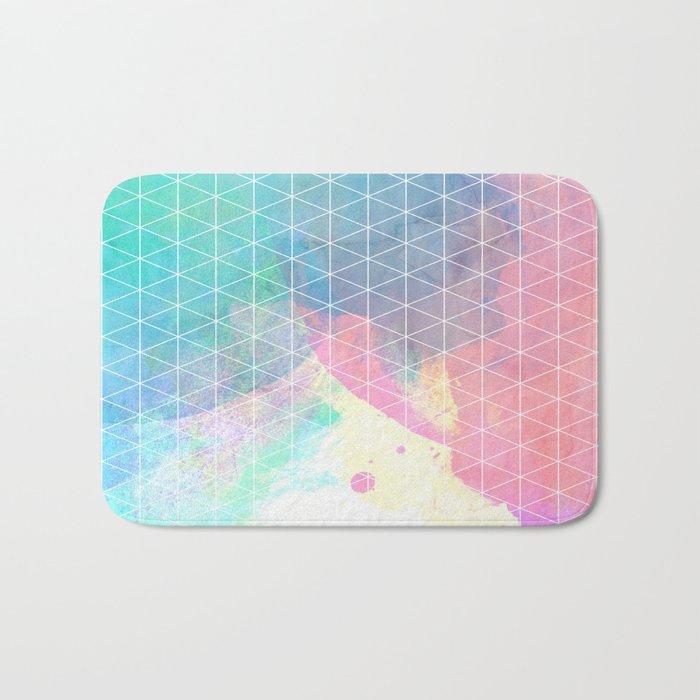 Geometric Shadows Bath Mat
