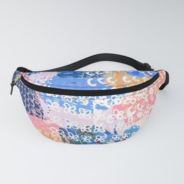 Trendy abstract fashion pattern in spotty shabby design Fanny Pack