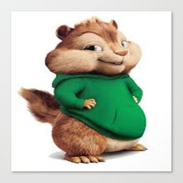 Theodore the cutes chipmunk Canvas Print