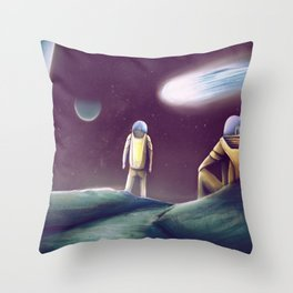 Observing The Energy Comet Throw Pillow