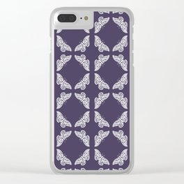 Meteorite Purple Arts and Crafts Butterflies Clear iPhone Case