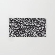 Aquatic I: White on Black Hand & Bath Towel