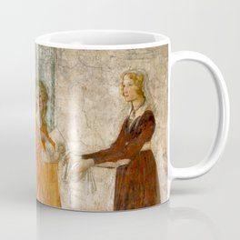 """Sandro Botticelli """"Venus and the Three Graces Presenting Gifts to a Young Woman"""" Coffee Mug"""