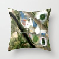 melbourne Throw Pillows featuring Melbourne by Mark John Grant