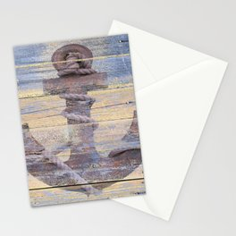 Rusty Anchor Grey Blue Beach Lake House Coastal Home Decor A177 Stationery Cards
