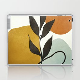 Soft Abstract Small Leaf Laptop & iPad Skin