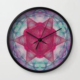 Fractal Art Sacred Door Nebula Wall Clock