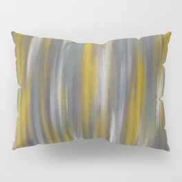 Chartreuse and Grey Woven Textile Design Pillow Sham