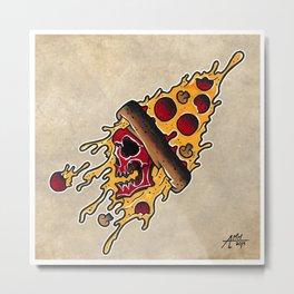PIZZA REAPER Metal Print