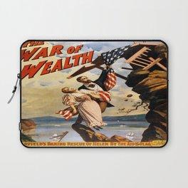 Vintage poster - The War of Wealth Laptop Sleeve