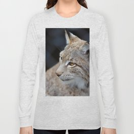 Young lynx close-up portrait Long Sleeve T-shirt