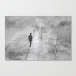 Placid on the straight and narrow Canvas Print
