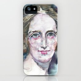 MARY SHELLEY - watercolor portrait iPhone Case