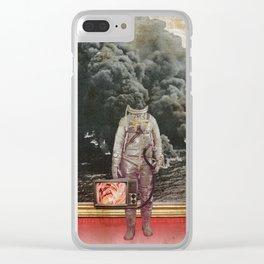 aus gebrannt Clear iPhone Case