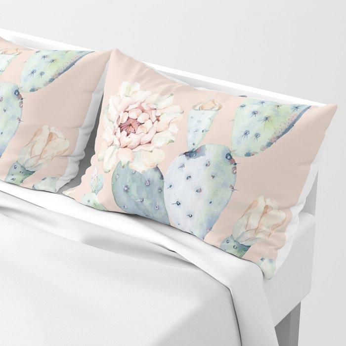 Desert Rose Cactus Pink Pillow Sham