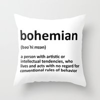 bohemian Throw Pillows featuring bohemian by bohemianizm