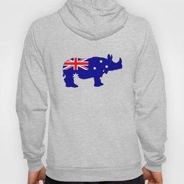 Australian Flag - Rhinoceros Hoody