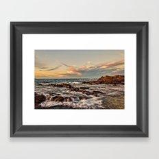Bass point sunset  Framed Art Print