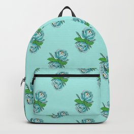 Spooky Blue Roses Backpack