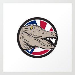 American Alligator USA Flag Icon Art Print