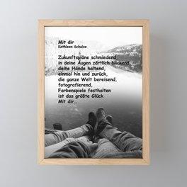 Mit dir Framed Mini Art Print