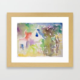 Summer Garden Light Framed Art Print