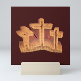 Three Crosses at Calvary Mini Art Print