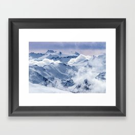 Snowy Mountains and Glaciers Framed Art Print