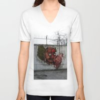 graffiti V-neck T-shirts featuring Graffiti by Beth Purvis