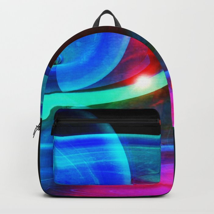 Alien Attack Abstract Backpack