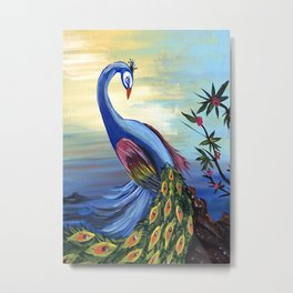 Peacock Life Metal Print