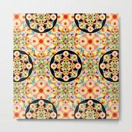 Pastel Carousel Pattern Metal Print
