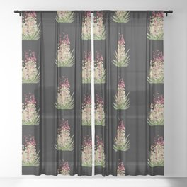 Yucca Plant Blossoming Sheer Curtain