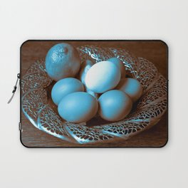 Egg Ginger Lemon blue Laptop Sleeve