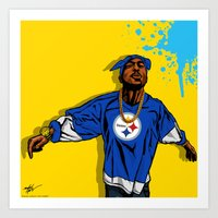 steelers Art Prints featuring STEELERS PAC by Mike Farhat Art Mobb