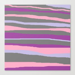 Gray Purple Lavender Brush Stroke Canvas Print
